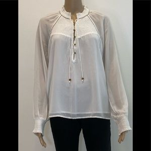abercrombie Women Blouse White Size S Long Sleeves